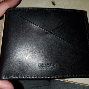 Men's leather black wallet Kenneth Cole RFID